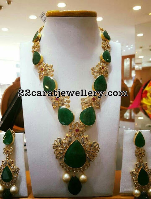 Large Emerald and Pachi Necklace