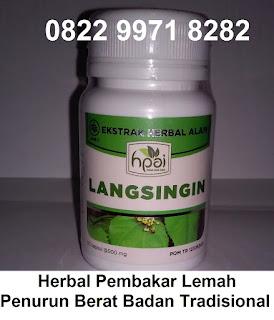 Obat pelangsing tubuh herbal alami Langsingin Hpai Asli Original