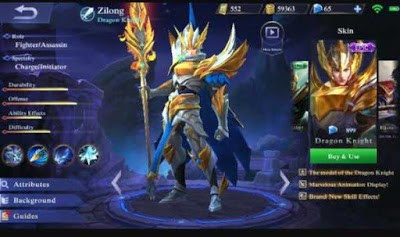 Build Item Zilong Savage Dengan Full Damage Yang Mematikan