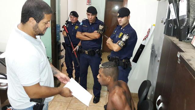 Polícia Civil com o apoio da GCM de Artur Nogueira em cumprimento a mandado de prisão detém elemento acusado de diversos roubos na região