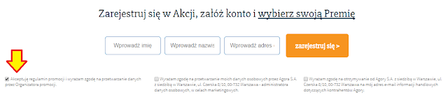 Zgoda wymagana w promocji Agory i mBanku