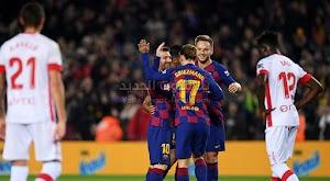 برشلونة يحقق فوز كاسح بخماسية على فريق ريال مايوركا يستعيد به صدارة الدوري الاسباني