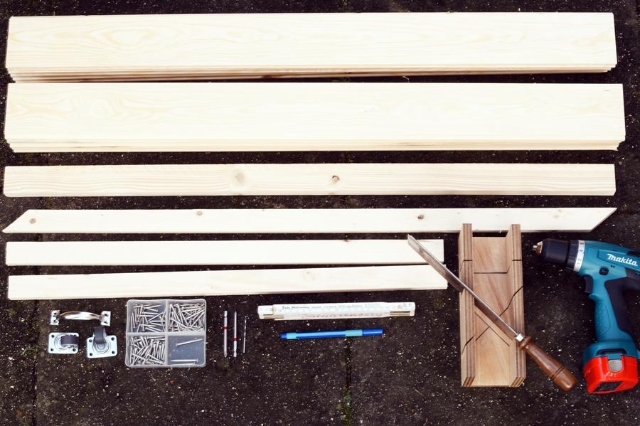 Blog + Fotografie by it's me! - DIY Gartentor selberbauen - Material zum bauen