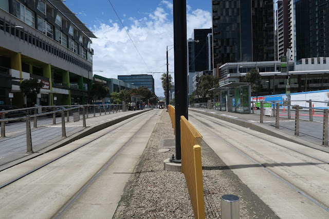 tram tracks, melbourne, australia
