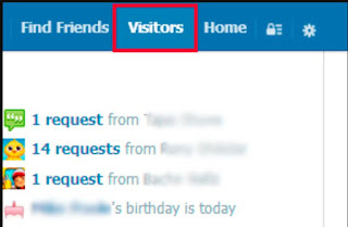 Visitor Button on FB