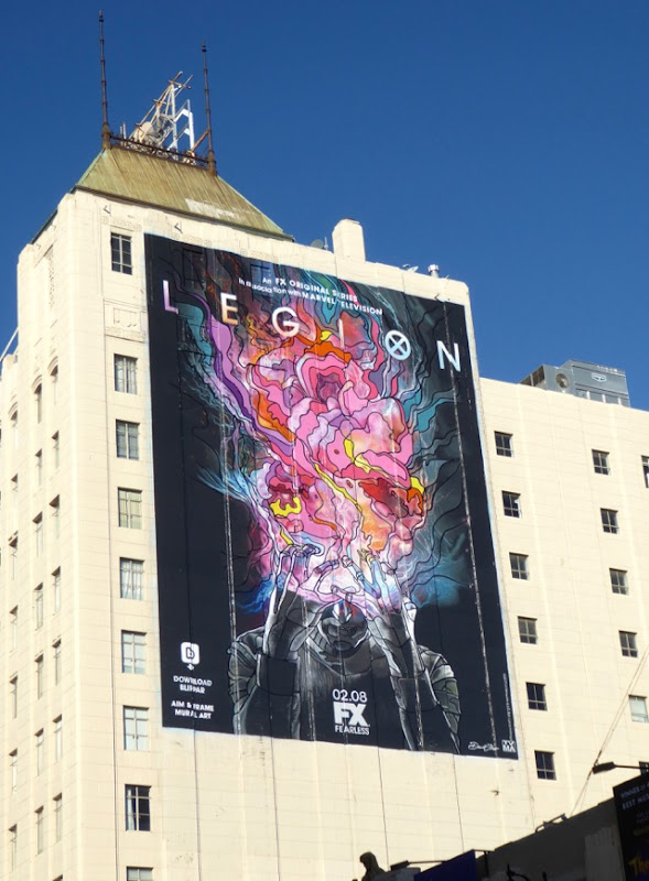 Giant Legion series premiere billboard