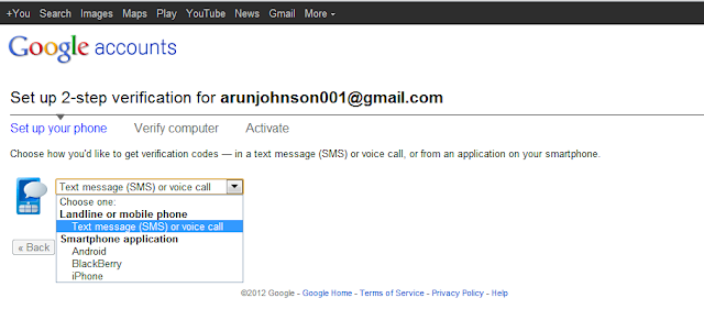 How To Turn On/Turn Off 2-Step Verification In Gmail ~ WindTricks