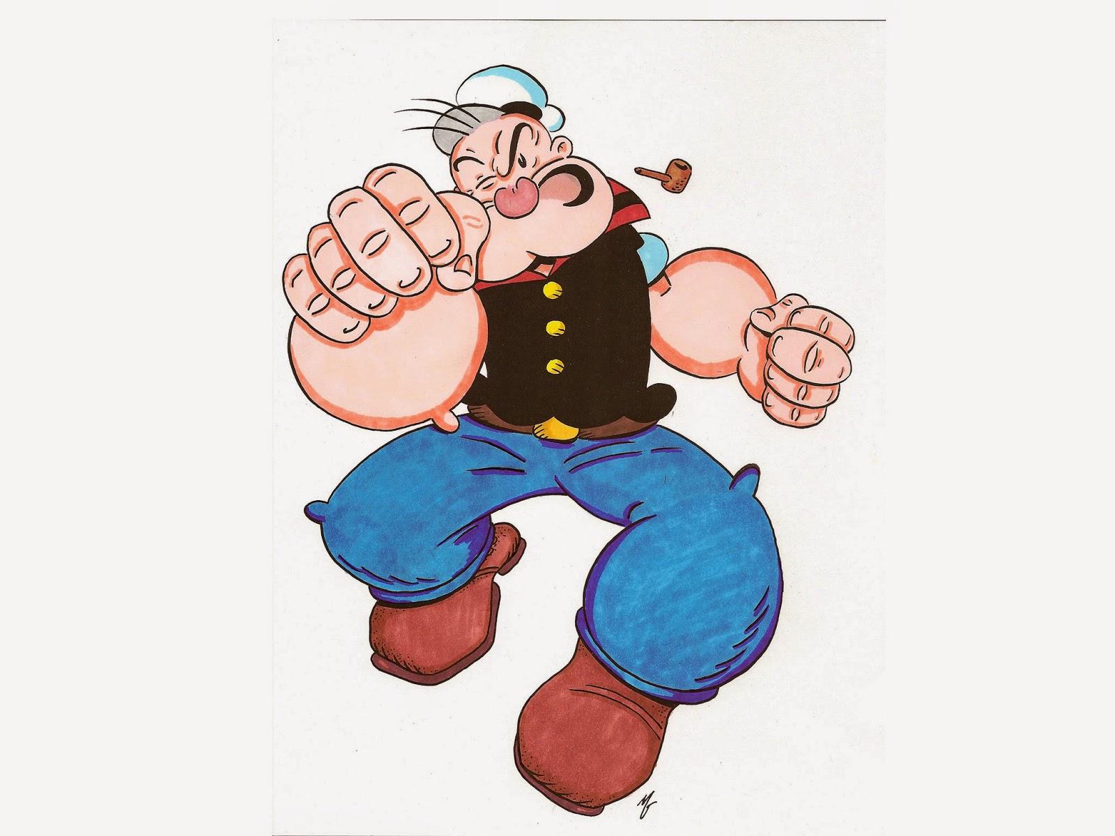 Wallpaper Popeye The Sailor Lucu dan Keren  Deloiz Wallpaper