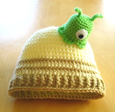 Futurama brain slug baby hat