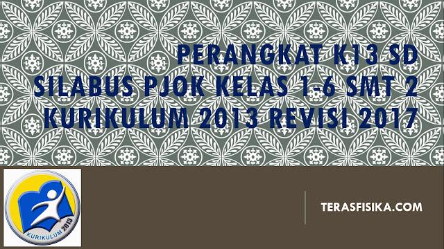 Silabus PJOK SD/MI Kurikulum 2013 Revisi 2017