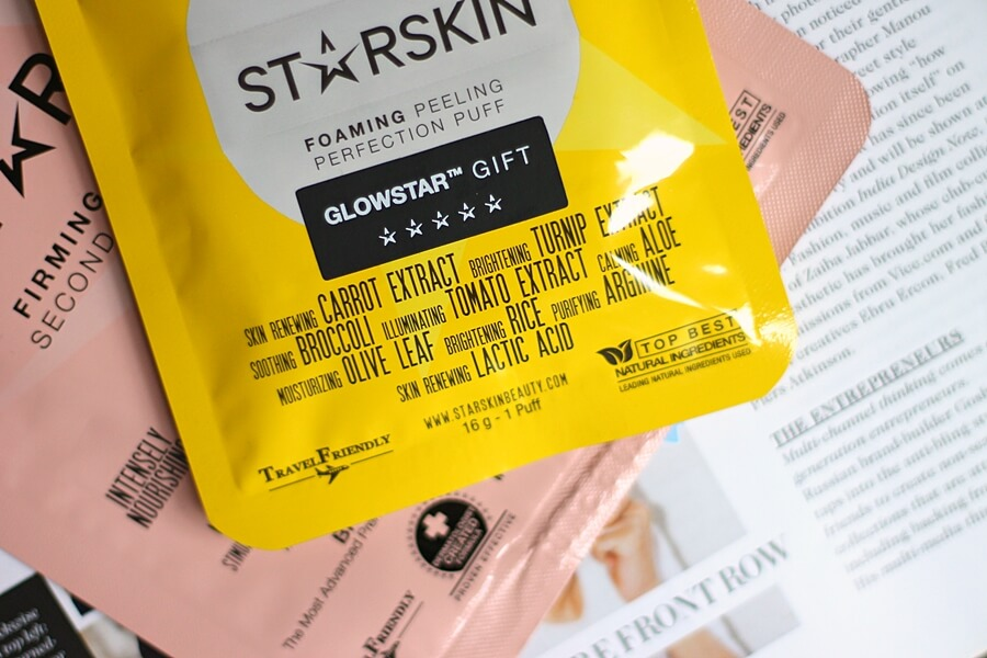 STARSKIN FOAMING PEELING PERFECTION PUFF & FIRMING FACE MASK review recenzija