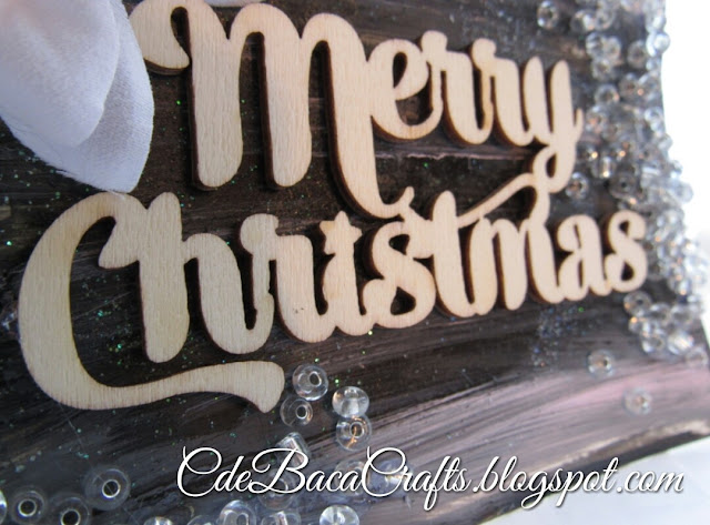 Handmade Merry Christmas card by CdeBaca Crafts Blogspot.