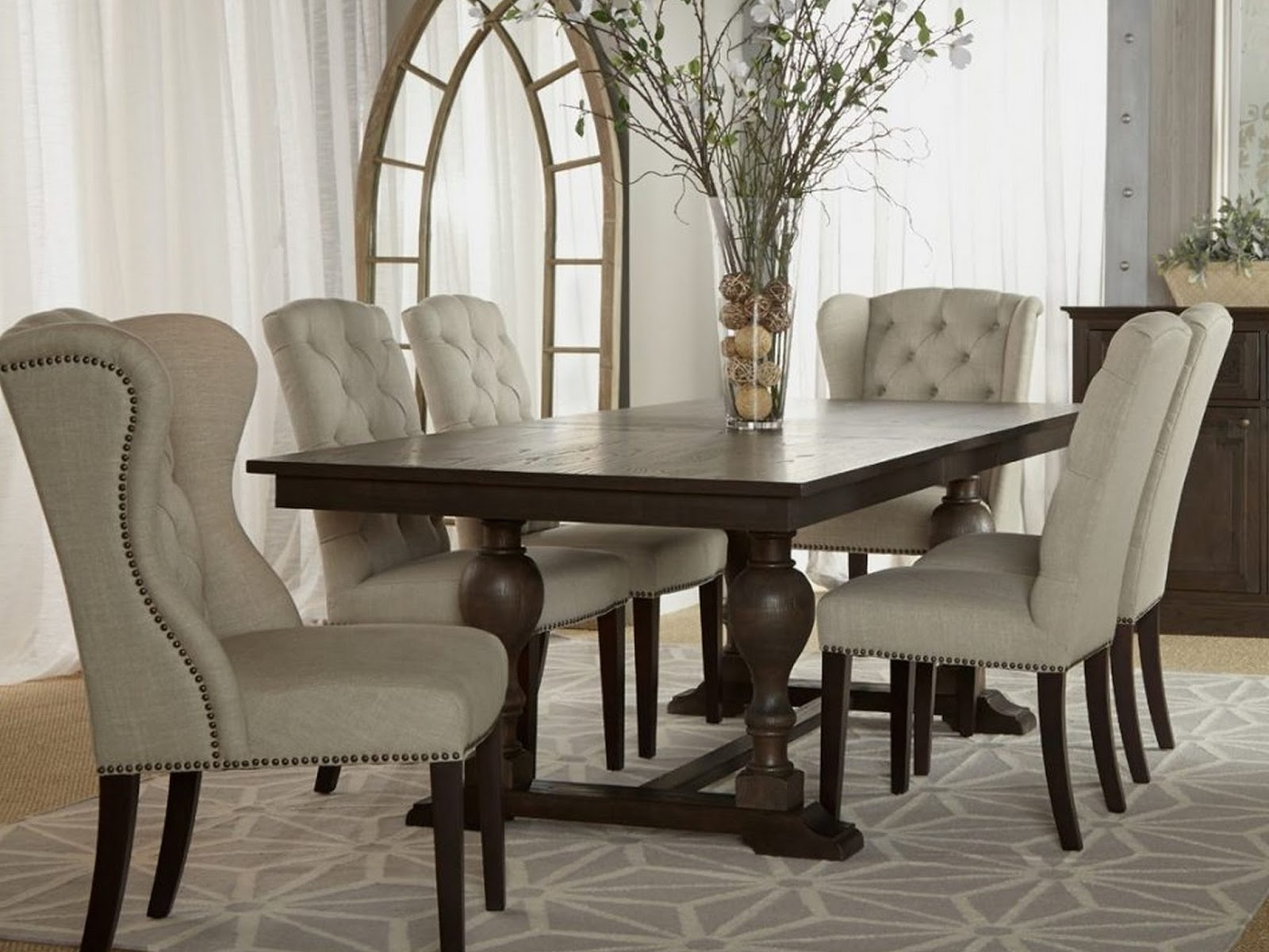 tufted dining room sets