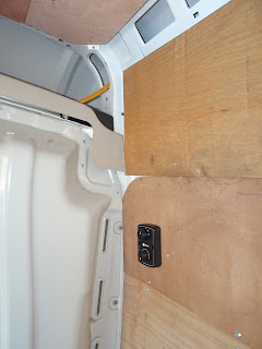 switch unit on van conversion wall