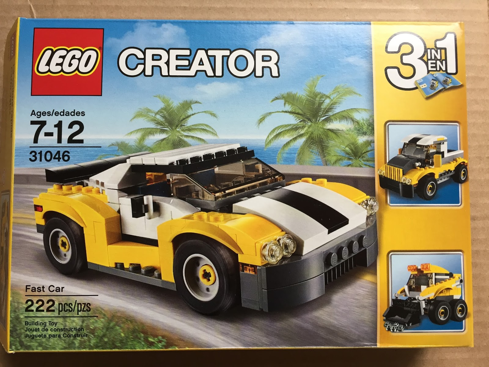 Lego Creator 3 in 1 Fast Car Review 31046