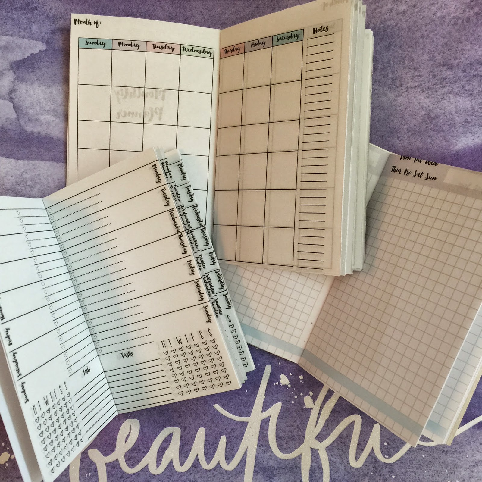 Mswenduhh Planning Printable Midori Inserts Printables Monthly