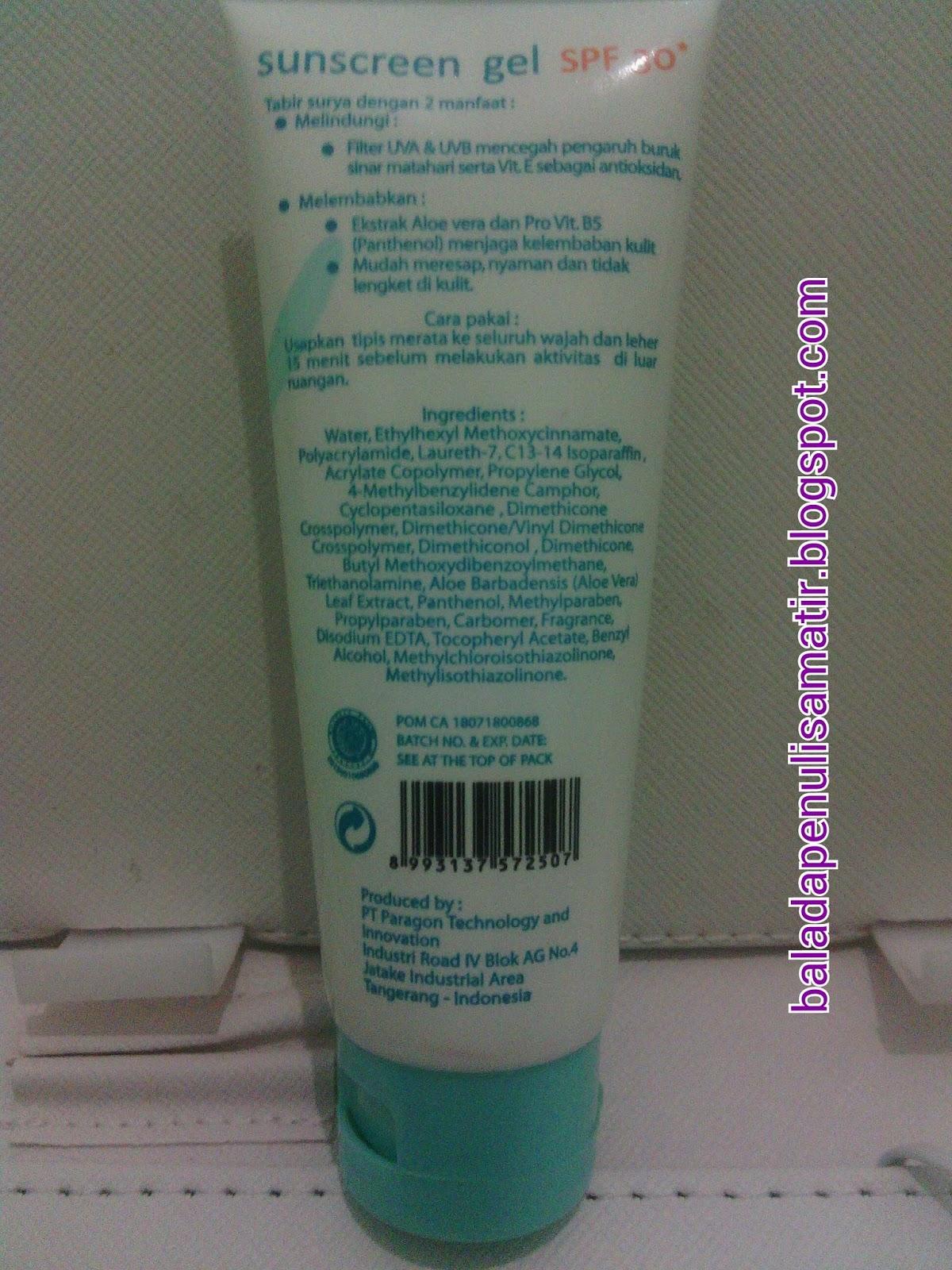 Beauty Talks: Wardah Sunscreen Gel SPF 30 Review (Updated)