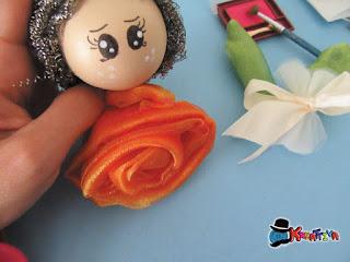 creare una rosa in taffetà