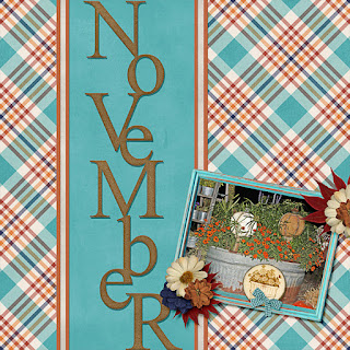 Ginger Scraps #2017 November Challenge  and Freebie Mini Kit