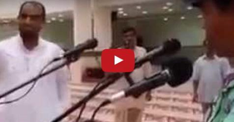 VIDEO: Teknisi Ini Memiliki Cara Unik Menguji Mic Yang Dipasangnya, Jamaah Masjid Pun Takjub Mendengarnya