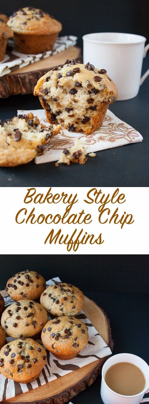 BAKERY STYLE CHOCOLATE CHIP MUFFINS #bakery #style #chocolate #chip #muffins #bakingrecipes #recipesforkids #cookierecipes #goodcookierecipes #sandwichrecipe #healthycookies #healthybaking #dezzertrecipes #bakingideas #baking