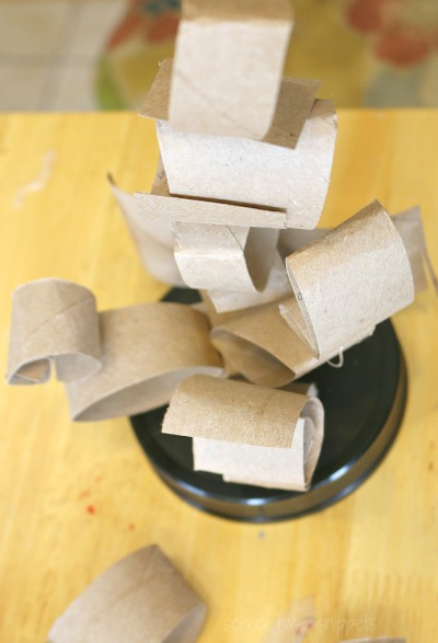 Let your child create with paper tubes