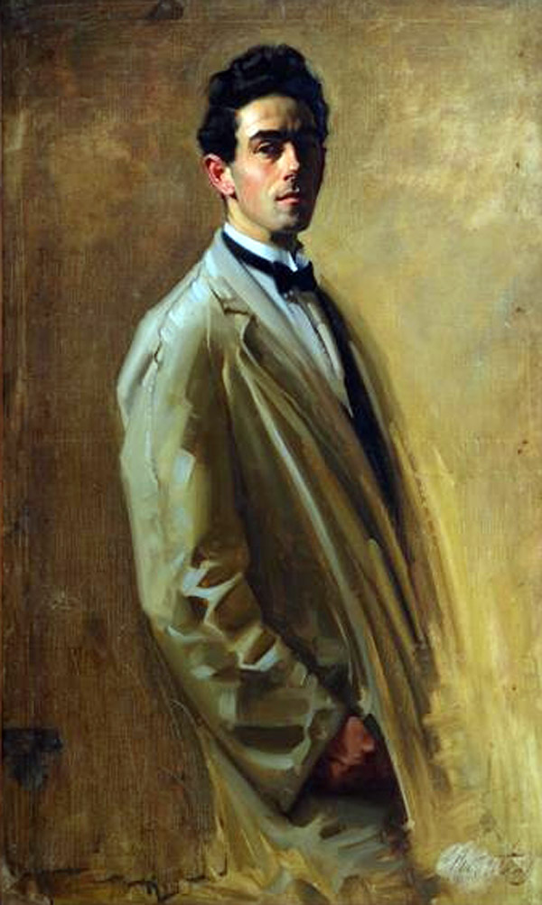 Ernest William Buckmaster,Self Portrait, Portraits of Painters, William Buckmaster, Fine arts, Portraits of painters blog, Paintings of William Buckmaster, Painter  William Buckmaster