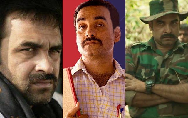 The Many Faces of Pankaj Tripathi: 1. Gangs of Wassepur 2. Nil Battey Sannata 3. Newton, Collage of his acting performances