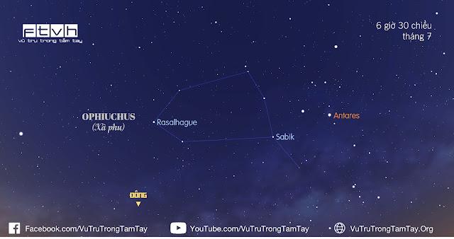 [Ftvh] #BầuTrờiĐêmNay 13/7/2016. Hãy tìm ra chòm sao Ophiuchus (Xà Phu).