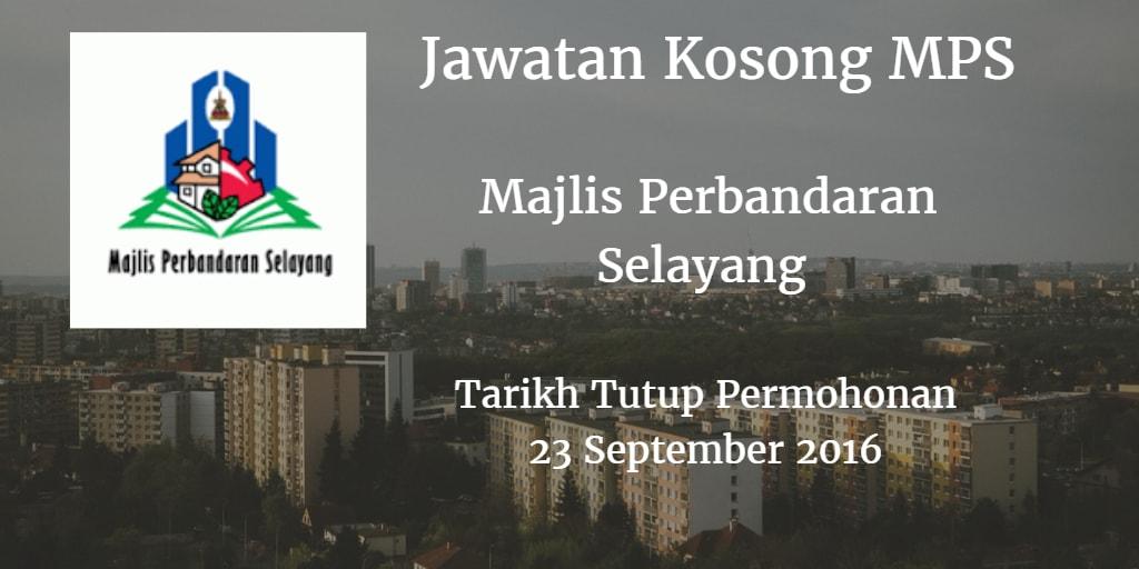 Jawatan Kosong MPS 23 September 2016