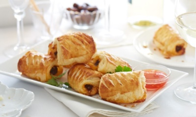 Spicy Beef And Tomato Sausage Rolls
