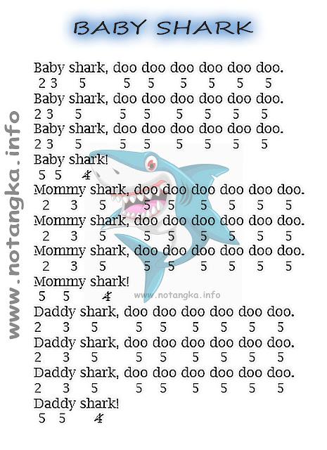 Not Angka Baby Shark Doo Doo Doo
