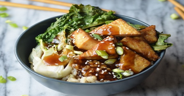 Crispy Baked Tofu Teriyaki Bowl Recipe