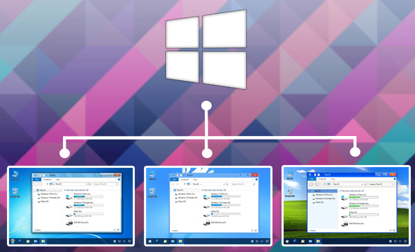 تحويل شكل ويندوز 10 الى شكل ويندوز اكس بي او فيستا او 7 او 8