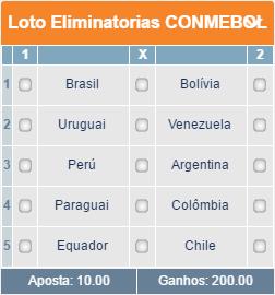 BETMOTION - GRADE ELIMINATÓRIAS CONMEBOL