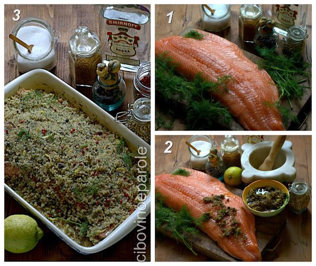 Ingredienti e procedimento per salmone marinato - gravlax