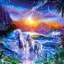 Papel de Parede Fantasia Unicornios no Paraiso