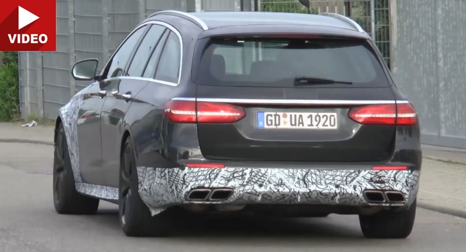 Beefed Up Mercedes-AMG E63 Models Filmed Testing