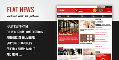 Flat News - Easy News & Magazine Template  Blogger