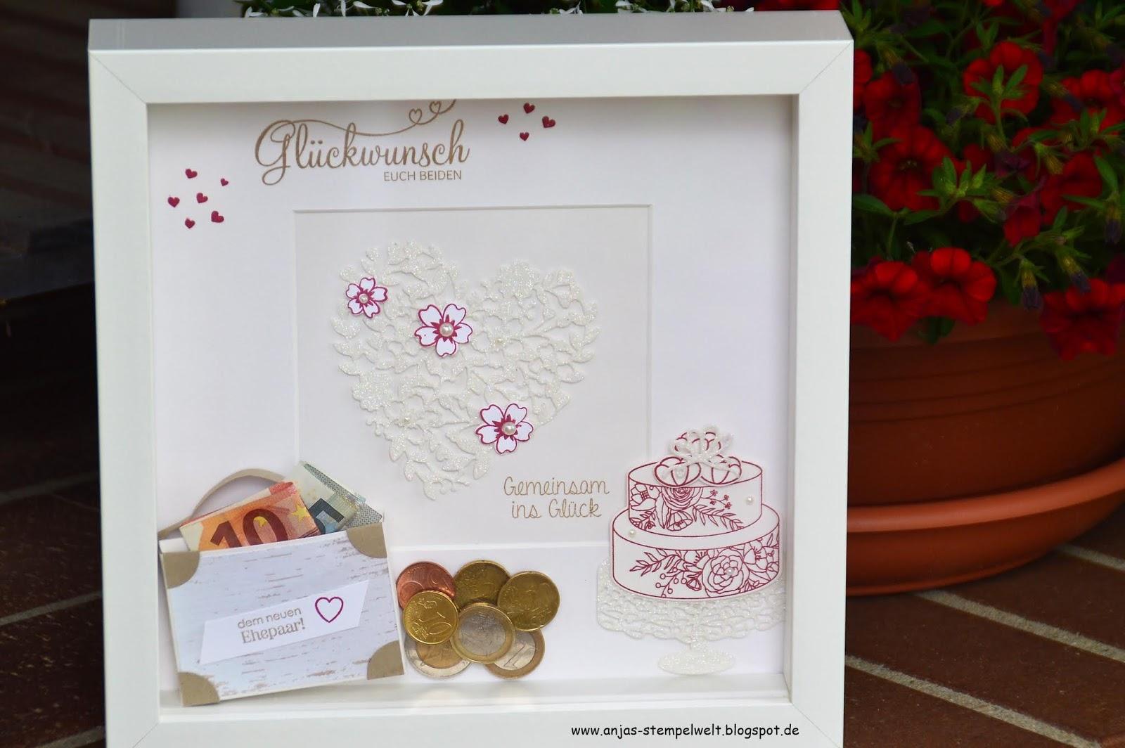 Bilderrahmen Als Hochzeitsgeschenk Anjas Stempelwelt Unabhangige