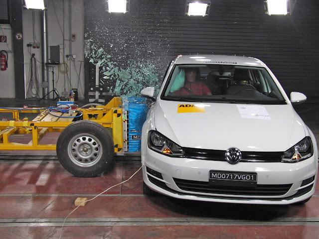 VW Golf brasileiro é 5 estrelas no Latin NCAP protocolo 2016