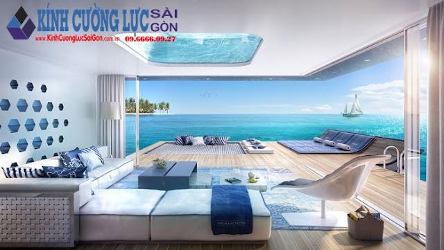 Nhà nổi với tầng kính dưới mặt nước tại Dubai - Seahorse