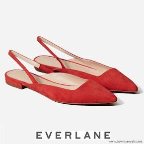 Meghan Markle wore Everlane Suede Slingback Flats
