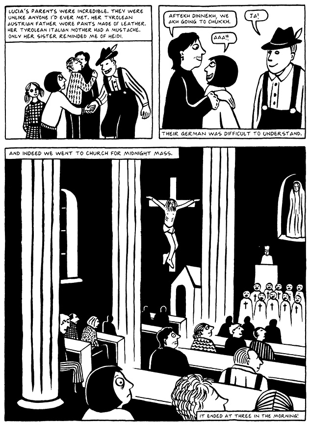 Read Chapter 2 - Tyrol, page 17, from Marjane Satrapi's Persepolis 2 - The Story of a Return