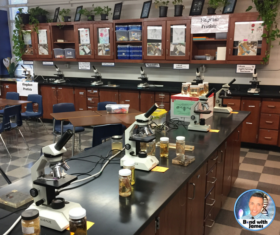Science Classroom Design Ideas: Bond With James: High School Science Classroom EoY Tour