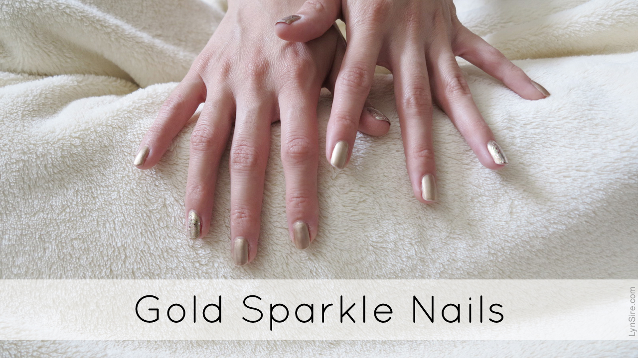 Gold Sparkle Nails with Milani and Confetti | LynSire: Cruelty-Free Life