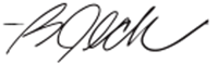 Barry Beck signature