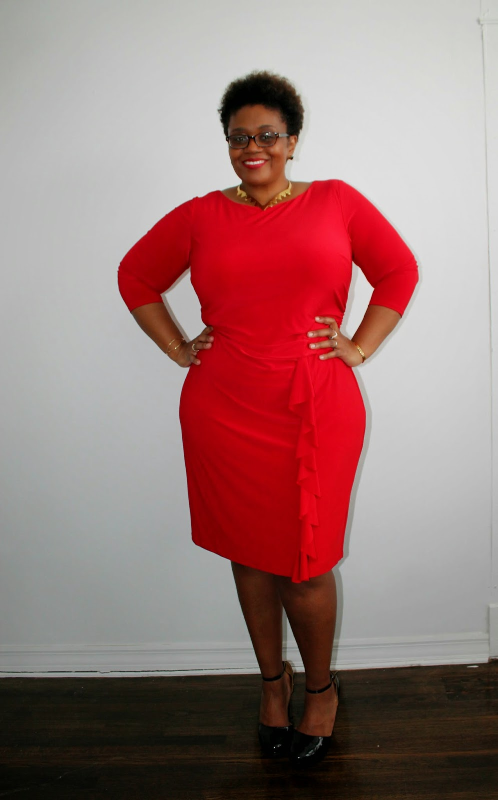 What I Wore} Power Red For Women! #WearRedDay • Curvatude