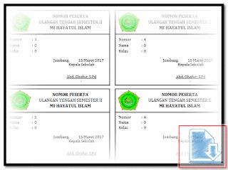 Download Aplikasi Cetak Kartu Ujian Sederhana Format Excel.Xlsm