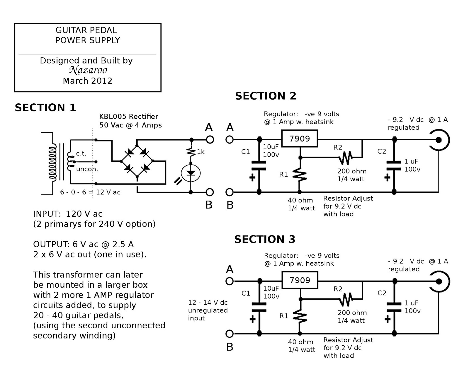 medium resolution of foot pedal for guitar effect wiring diagram